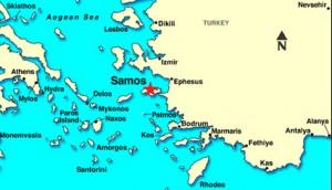 kaartje samos locatie